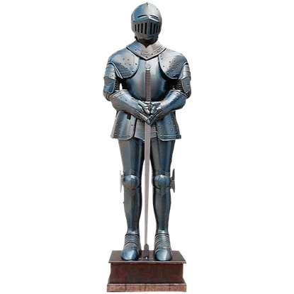Blued Steel Medieval Armour