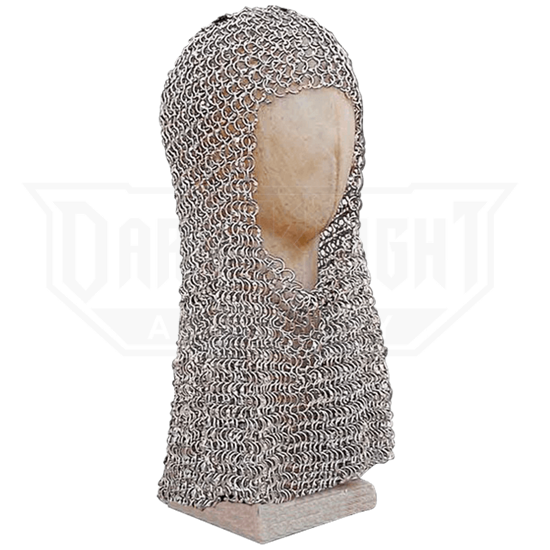 Butted Ring Steel Chainmail Coif