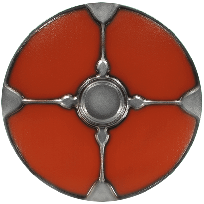 Gaelic Red LARP Shield