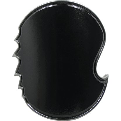 Black and Silver Chaos Round LARP Shield