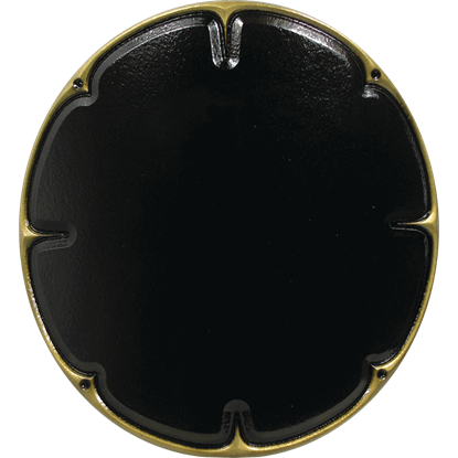 Black and Gold Chaos Skirmisher LARP Shield
