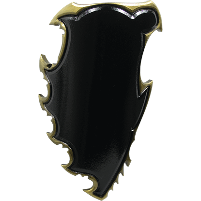 Black and Gold Chaos LARP Battle Shield