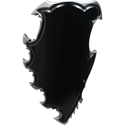 Black and Silver Chaos LARP Battle Shield