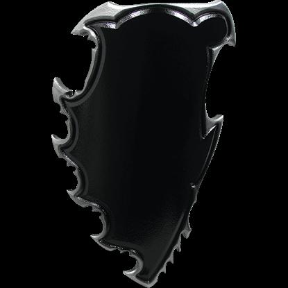 Black and Silver Chaos LARP Battle Shield