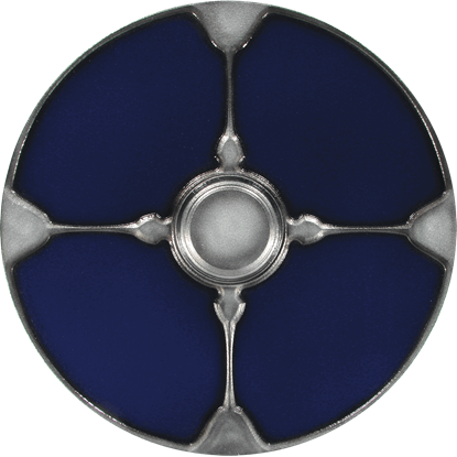 Gaelic Blue LARP Shield