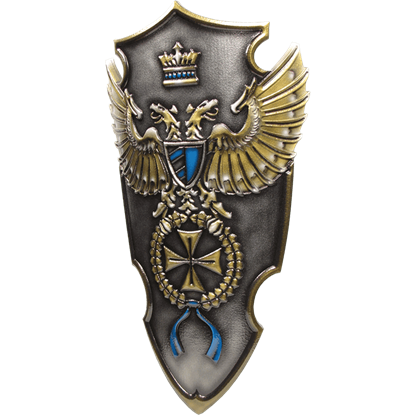 Blue Imperial Commander LARP Shield