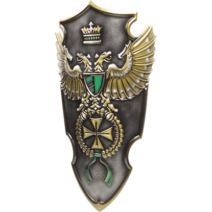 Green Imperial Commander LARP Shield