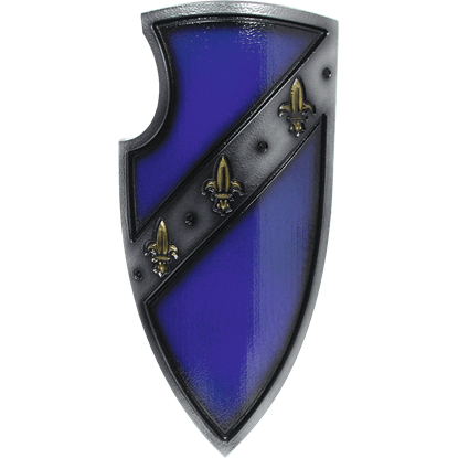 Blue Medieval Gralsritter LARP Shield