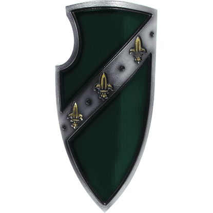 Green Medieval Gralsritter LARP Shield