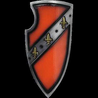 Red Medieval Gralsritter LARP Shield