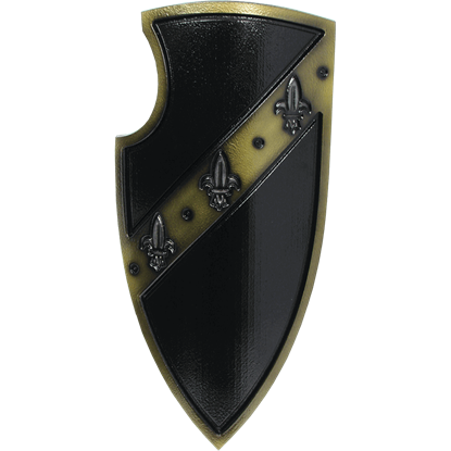 Black Medieval Gralsritter LARP Shield