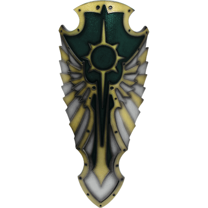 Green Medieval Hochpaladin LARP Shield