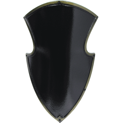 Black Medieval Knight LARP Shield