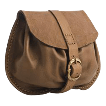 Small Buckled Leather Bag