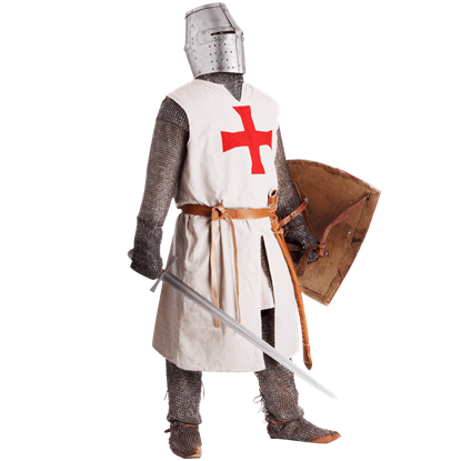 White Templar Knight Overcoat