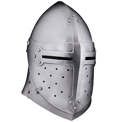 14th Century Sugar Loaf Visored Helmet