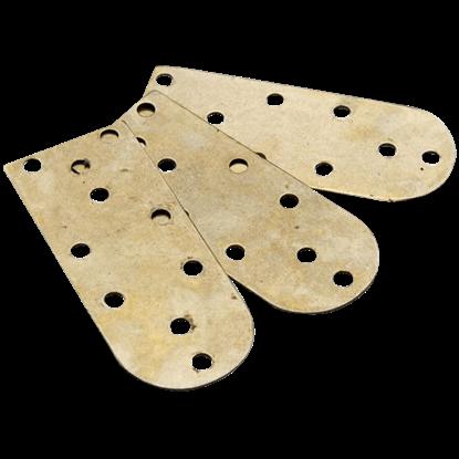 Brass Lamellae Plates - Set of 25