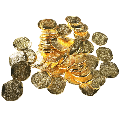 50 Large Golden Pirate Coins