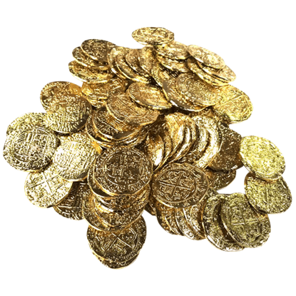 75 Medium Golden Pirate Coins