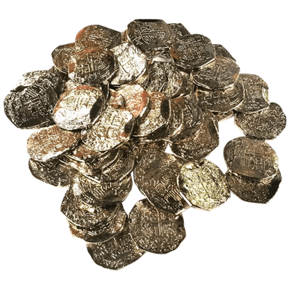 75 Medium Silver Pirate Coins