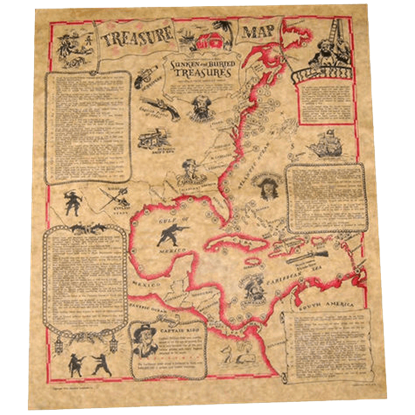 Buccaneers Treasure Map