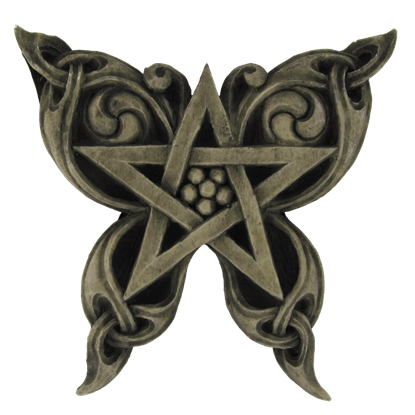 Butterfly Pentacle Plaque