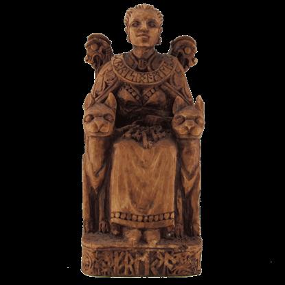 Seated Freya Statue