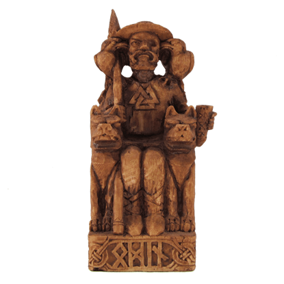 Seated Odin Statue