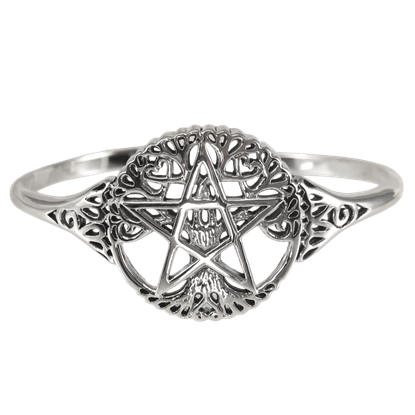 Silver Tree Pentacle Bracelet