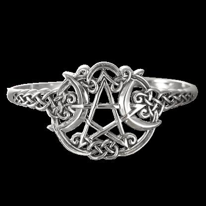 Silver Heart Pentacle Bracelet
