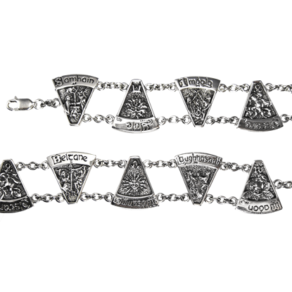 Sterling Silver Wheel of the Year Bracelet