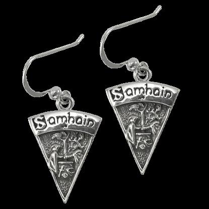 Silver Samhain Earrings