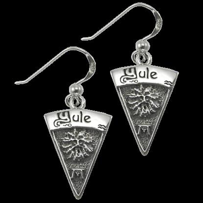 Silver Yule Earrings
