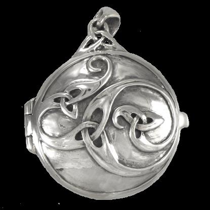 Silver Celtic Swirl Locket