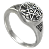 Small Silver Tree Pentacle Ring