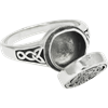 Sterling Silver Moon Pentacle Poison Ring