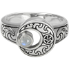 Crescent Moon with Moonstone Ring