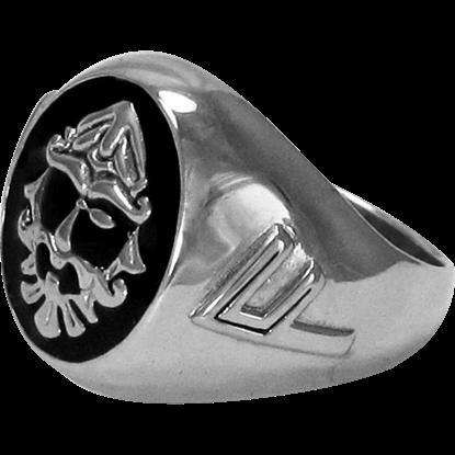 Sterling Silver Odin Signet Ring