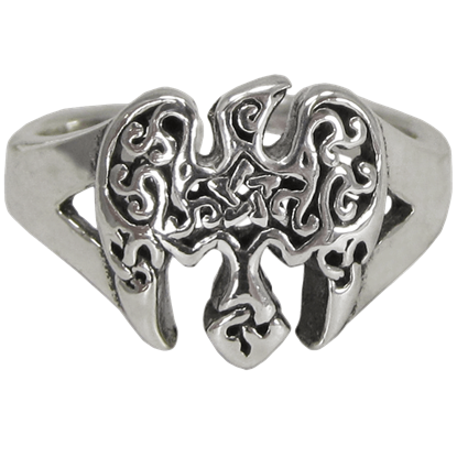 Sterling Silver Raven Pentacle Toe Ring