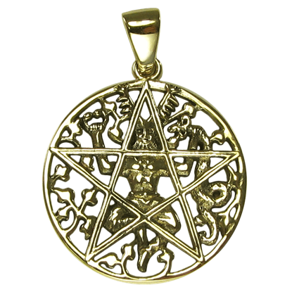 Bronze Cernunnos Pentacle Pendant
