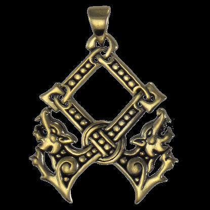 Bronze Othala Rune Pendant