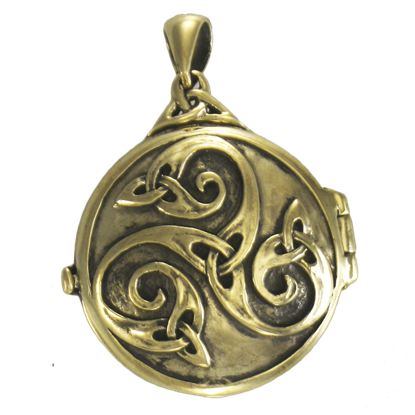 Bronze Celtic Swirl with Hidden Pentacle Locket