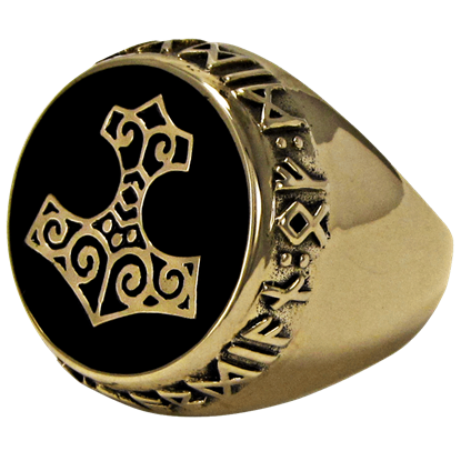 Bronze Thor Hammer Ring