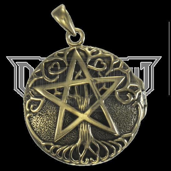 Bronze Tree Pentacle Locket