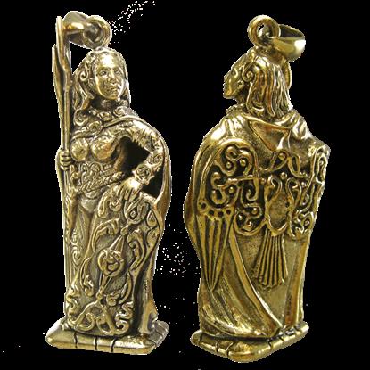 Bronze Morrigan Pendant