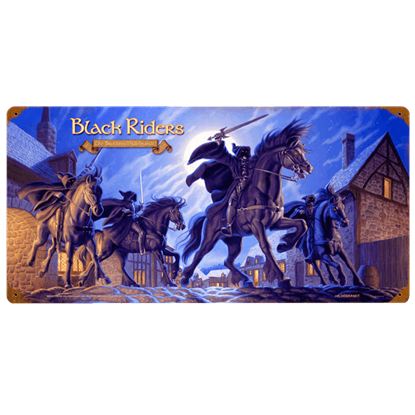 Black Riders LOTR Vintage Metal Sign