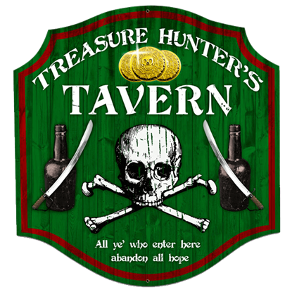 Treasure Hunter Tavern Sign
