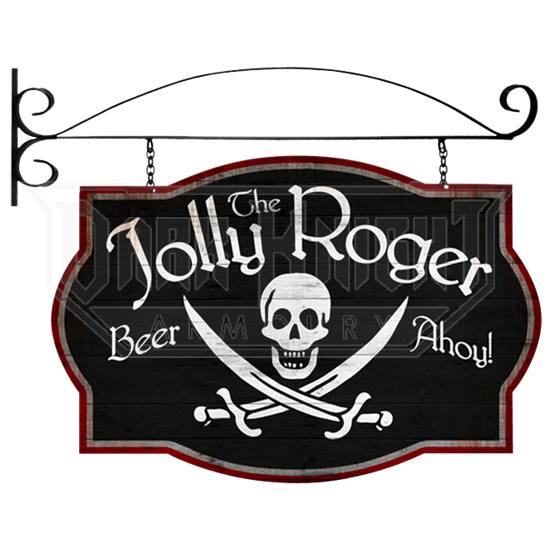Double Sided Jolly Roger Tavern Sign