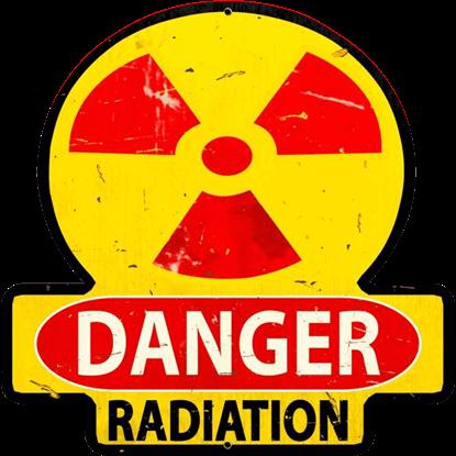 Danger Radiation Metal Sign