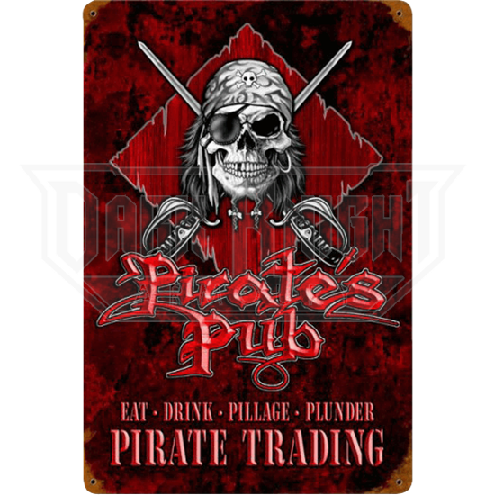 Pirates Pub Metal Sign